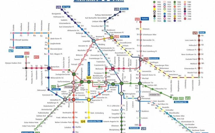 Liniennetz U-Bahn